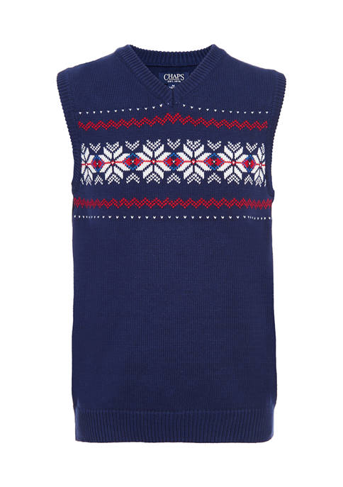 Chaps Boys 8-20 Fairisle Sweater Vest
