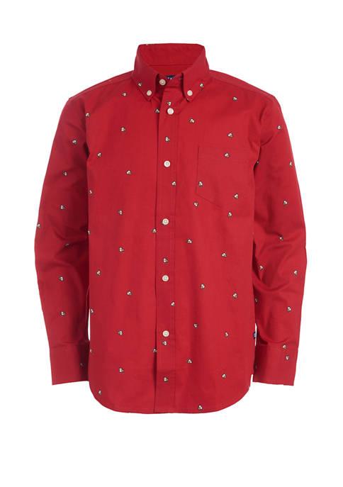 Chaps Boys 4-7 Long Sleeve Bulldog Woven Shirt