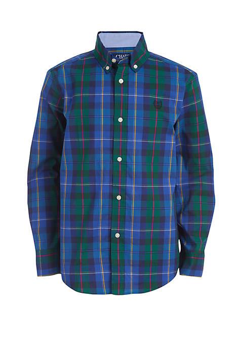Boys 4-7 Plaid Woven Shirt
