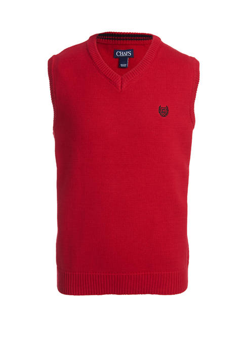 Boys 8-20 Solid Sweater Vest