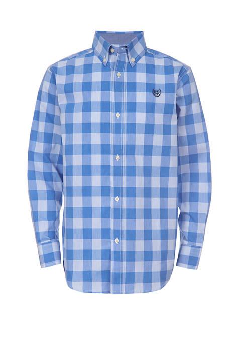 Chaps Boys 4-7 Long Sleeve Woven Plaid Shirt