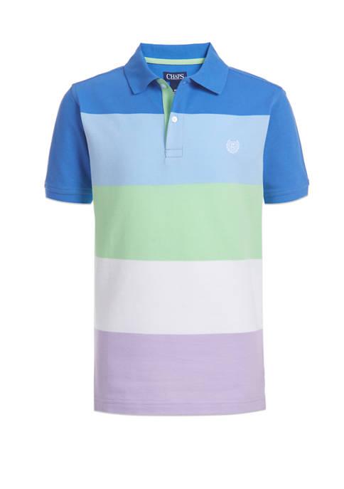 Boys 8-20 Multi Stripe Piqué Polo Shirt