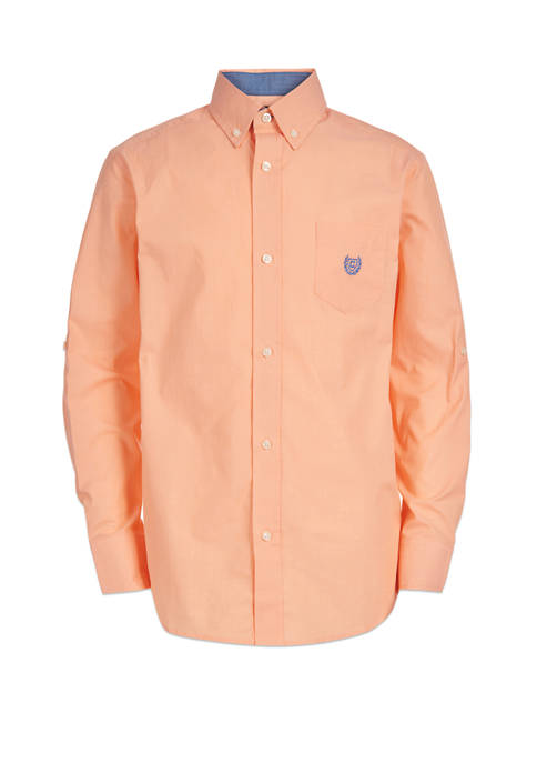 Chaps Boys 8-20 Long Sleeve Stretch Chambray Woven