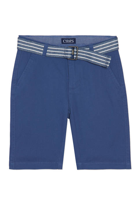 Chaps Boys 4-7 Stretch Twill Shorts with Belt