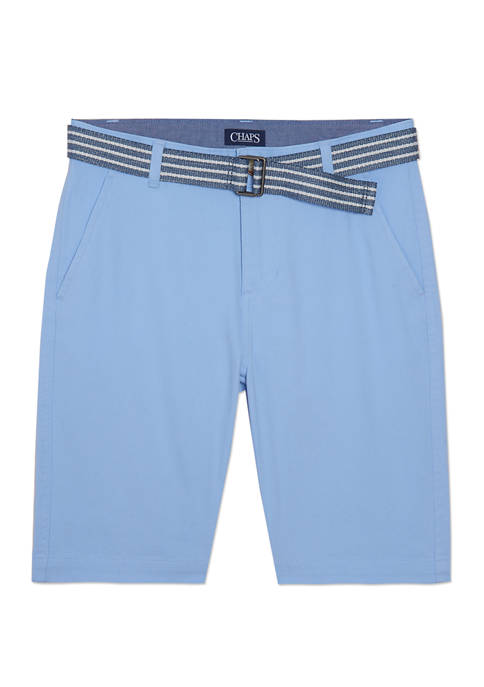 Chaps Boys 8-20 Belted Stretch Twill Shorts