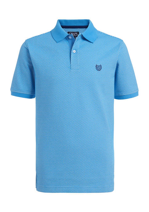 Chaps Boys 4-7 Jacquard Pattern Polo
