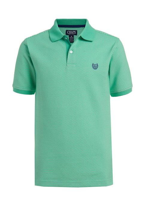 Boys 8-20 Jacquard Pattern Polo Shirt