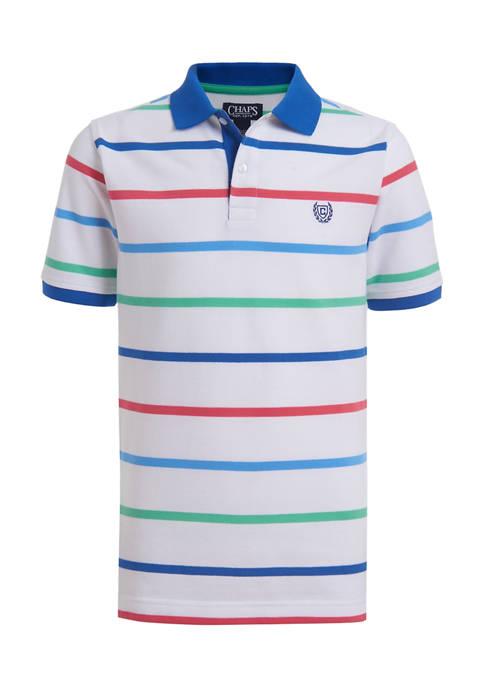 Chaps Boys 4-7 Spring Stripe Piqué Polo