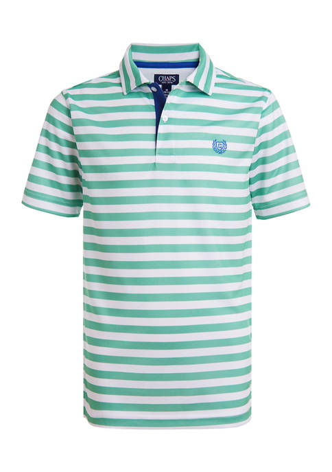 Boys 8-20 Feeder Stripe Mesh Polo Shirt