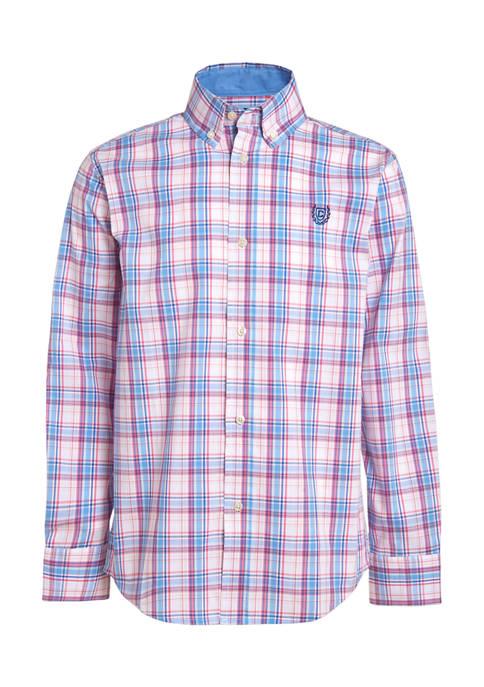 Chaps Boys 4-7 Stretch Spring Plaid Shirt