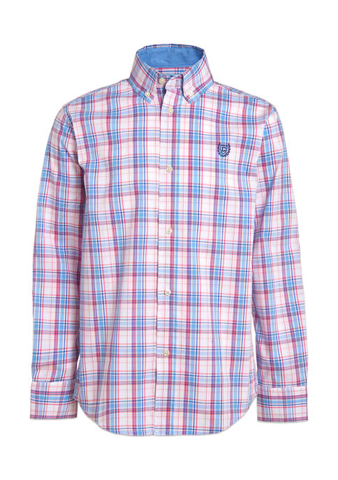 Chaps Boys 8-20 Stretch Spring Plaid Shirt