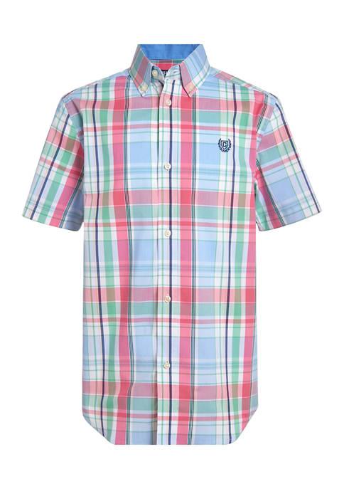 Boys 4-7 Stretch Pacific Plaid Shirt