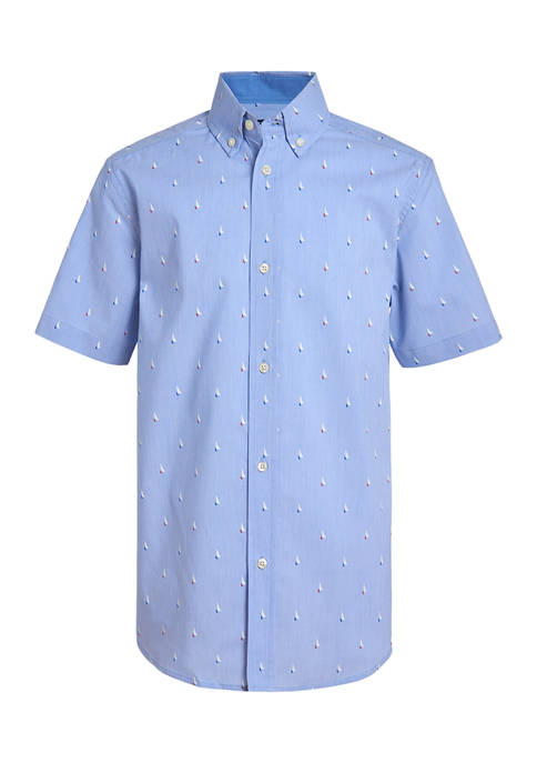 Boys 4-7 Boat Print Shirt
