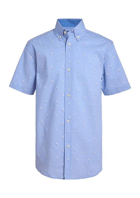 Boys 8-20 Boat Print Shirt