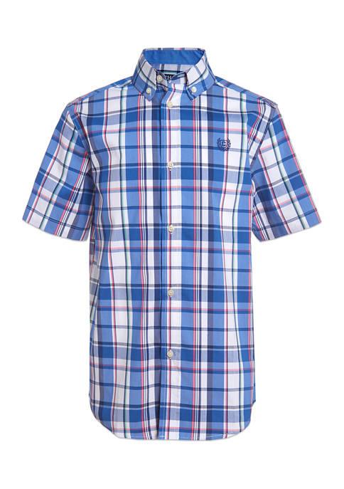 Chaps Boys 8-20 Stretch Coast Plaid Shirt