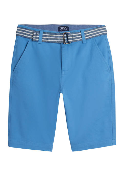 Chaps Boys 4-7 Striped Belted Shorts