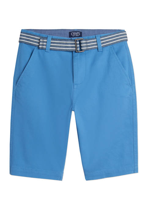 Chaps Boys 8-20 Stripe Belted Shorts