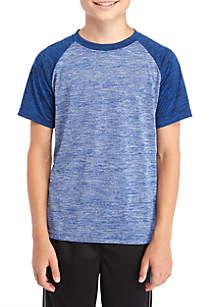 Short Sleeve Spacedye Raglan Top