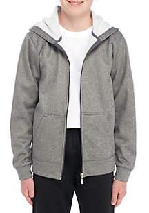 Boys 8-20 Zip Front Fleece Polyester Hoodie