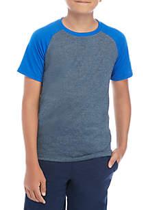 ZELOS Boys 8-20 Space Dye Raglan T Shirt