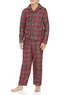 Boys 4-20 Traditional Plaid Pajama Set