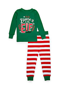 boys 4 20 blame it on the elf pajama set
