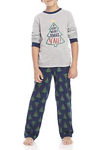 Boys 4-20 Merry Christmas Y'all Pajama Set
