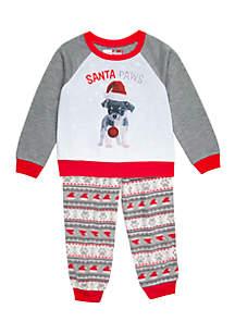 Boys 4-20 Santa Paws Pajama Set