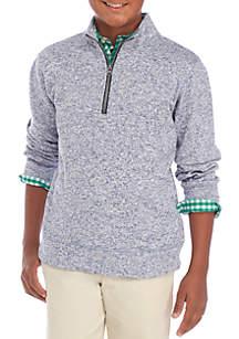 Boys 8-20 Quarter Zip Fleece Sweater