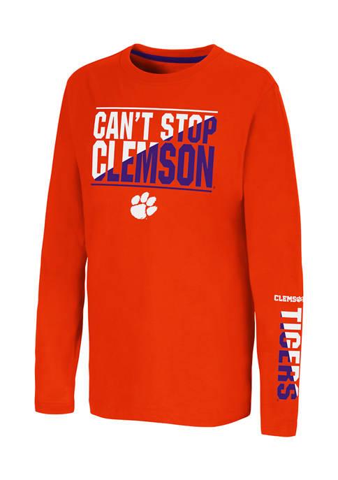 Colosseum Athletics Boys 8-20 NCAA Clemson Tigers Graphic