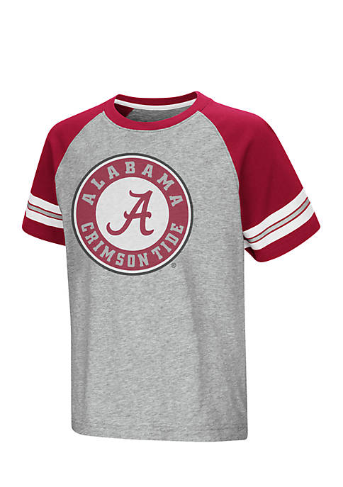 Colosseum Athletics Alabama Youth Short Sleeve Bertram Raglan
