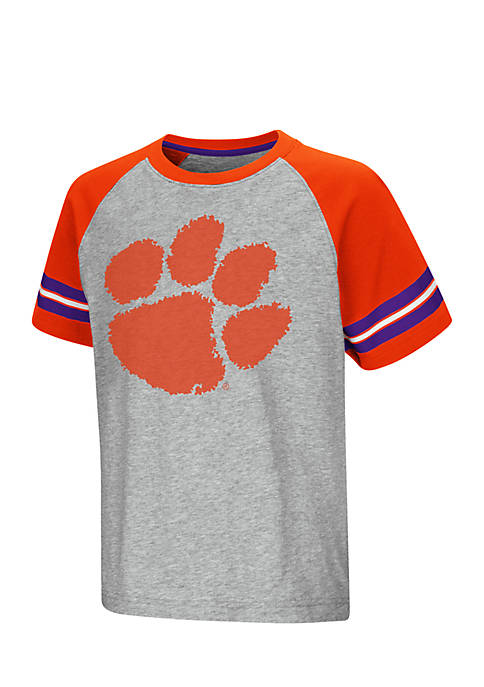 Colosseum Athletics Clemson Tigers Youth Short Sleeve Bertram