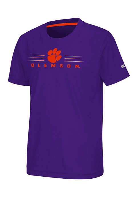 Colosseum Athletics Boys 8-20 NCAA Clemson Tigers Rubberized