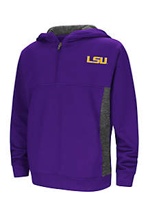 LSU Tigers Goon Docks Poly Mesh 1/4 Zip Pullover- Boys 8-20 View 4 variants