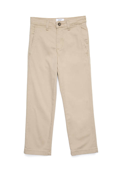 Crown & Ivy™ Boys 4-8 Khaki Twill Pants