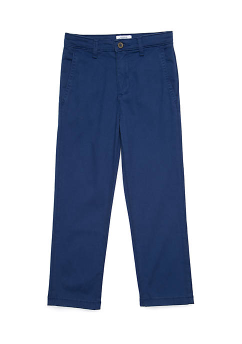 Crown & Ivy™ Boys 4-8 Navy Twill Pants