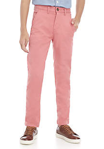 Boys 8-20 Flat Front Stretch Slim Fit Twill Chino Pants