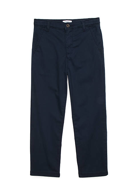Crown & Ivy™ Boys 4-8 Flat Front Twill