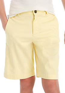 Crown & Ivy™ Boys 8-20 Flat Front Twill Free Yellow Shorts