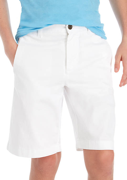 Crown & Ivy™ Boys 8-20 Flat Front White