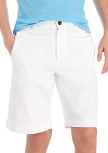 Crown & Ivy™ Boys 8-20 Flat Front White Twill Shorts