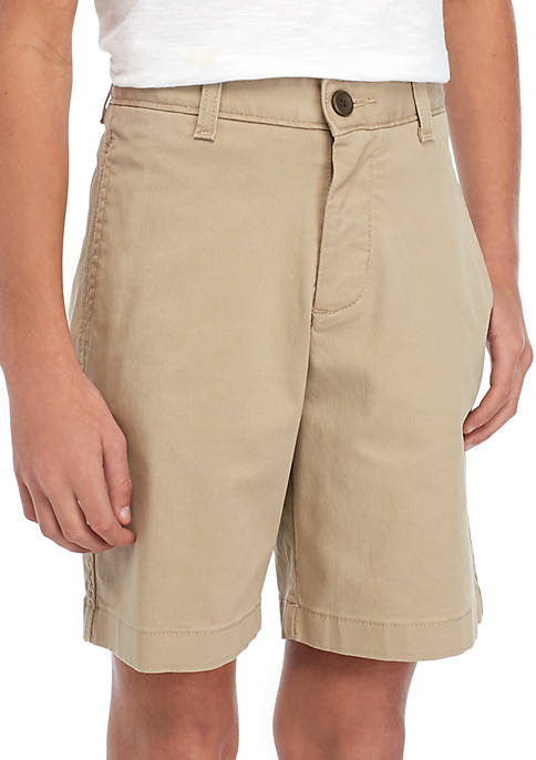Crown & Ivy™ Boys 8-20 Flat Front Twill