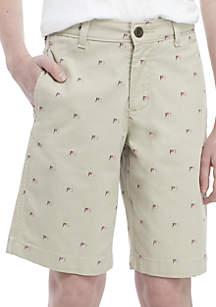 bcb3f4bd45 ... Crown & Ivy™ Boys 8-20 Flag Printed Shorts