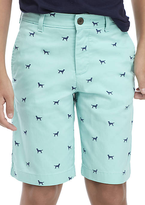 Crown & Ivy™ Boys 8-20 Dog Print Shorts
