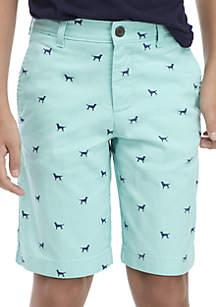 Crown & Ivy™ Boys 8-20 Dog Print Shorts