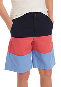 Crown & Ivy™ Boys 8-20 Colorblock Shorts