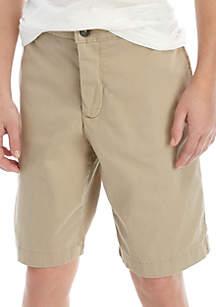 Crown & Ivy™ Boys 8-20 Husky Hetch Khaki Shorts
