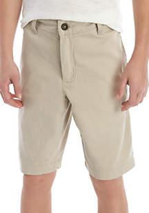 Crown & Ivy™ Boys 8-20 Husky Stone Soho Shorts