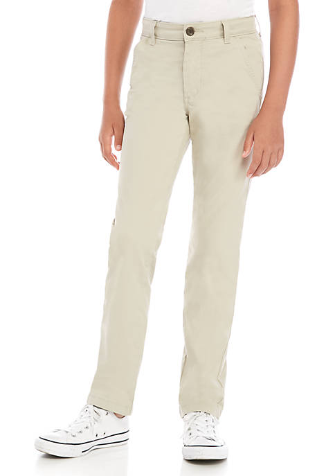 Crown & Ivy™ Boys 8-20 Flat Front Stone