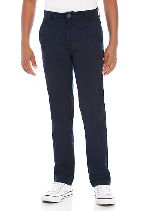 Crown & Ivy™ Boys 8-20 Flat Front Pants